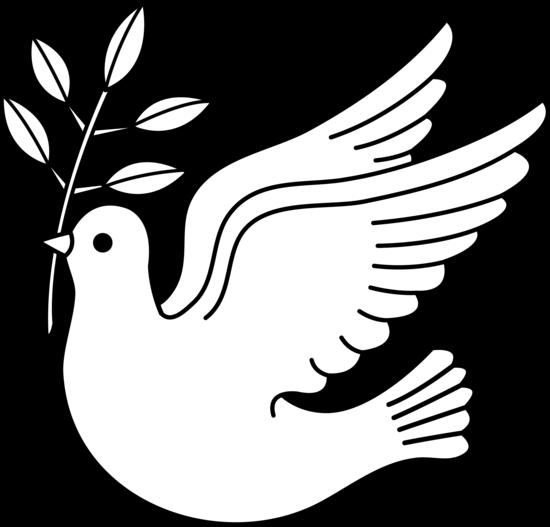 Free peace download clip. Dove clipart black and white