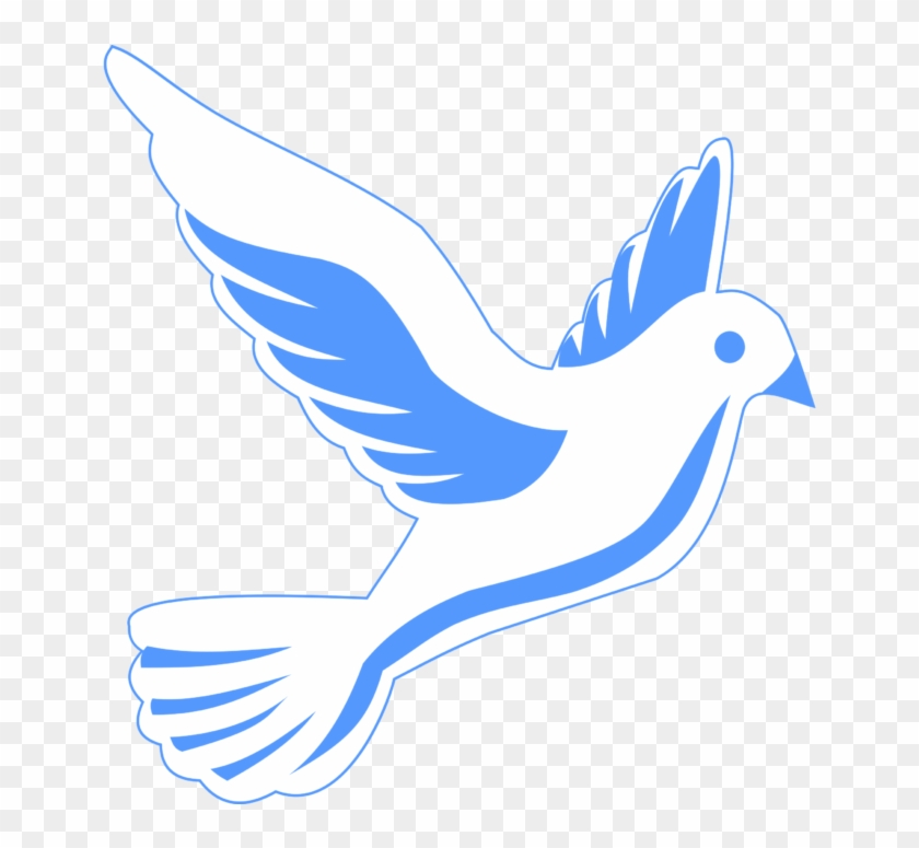 Dove with sun flying. Doves clipart blue