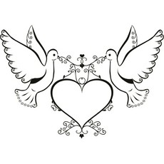 Wedding free download best. Doves clipart bridal