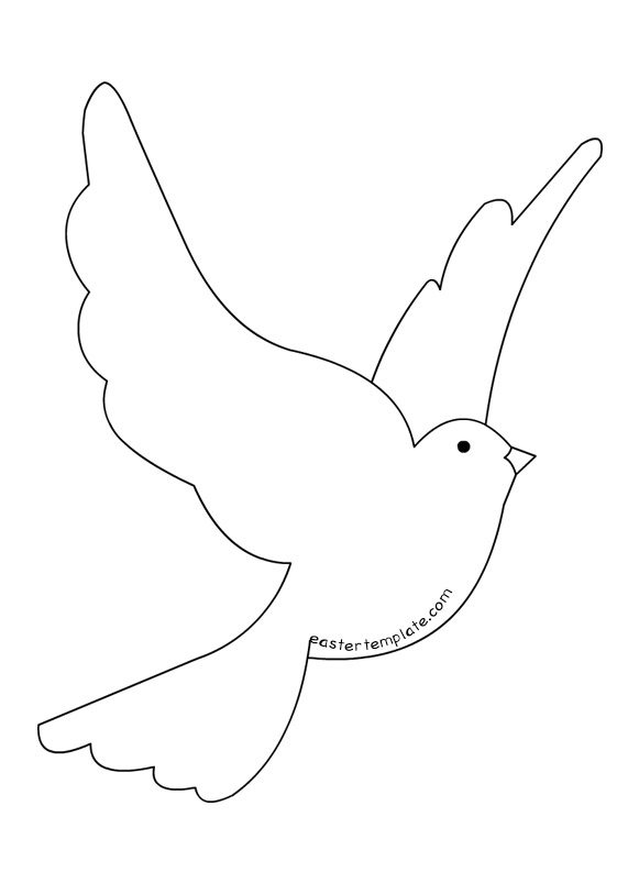 Dove clipart easter. Flying clip art template