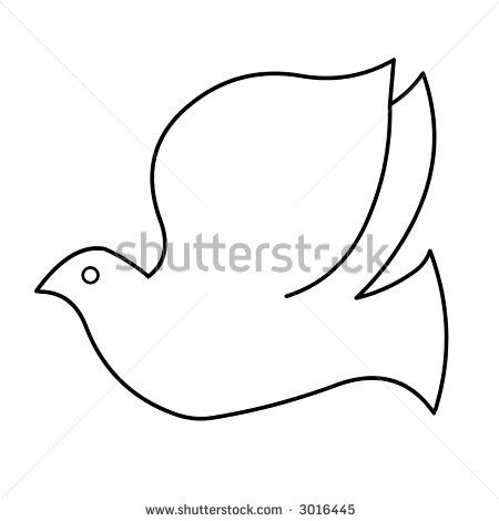 How to draw a. Dove clipart easy