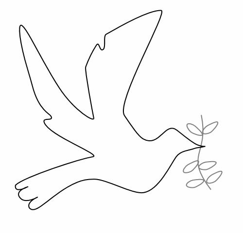 Peace dove stuff to. Doves clipart kid