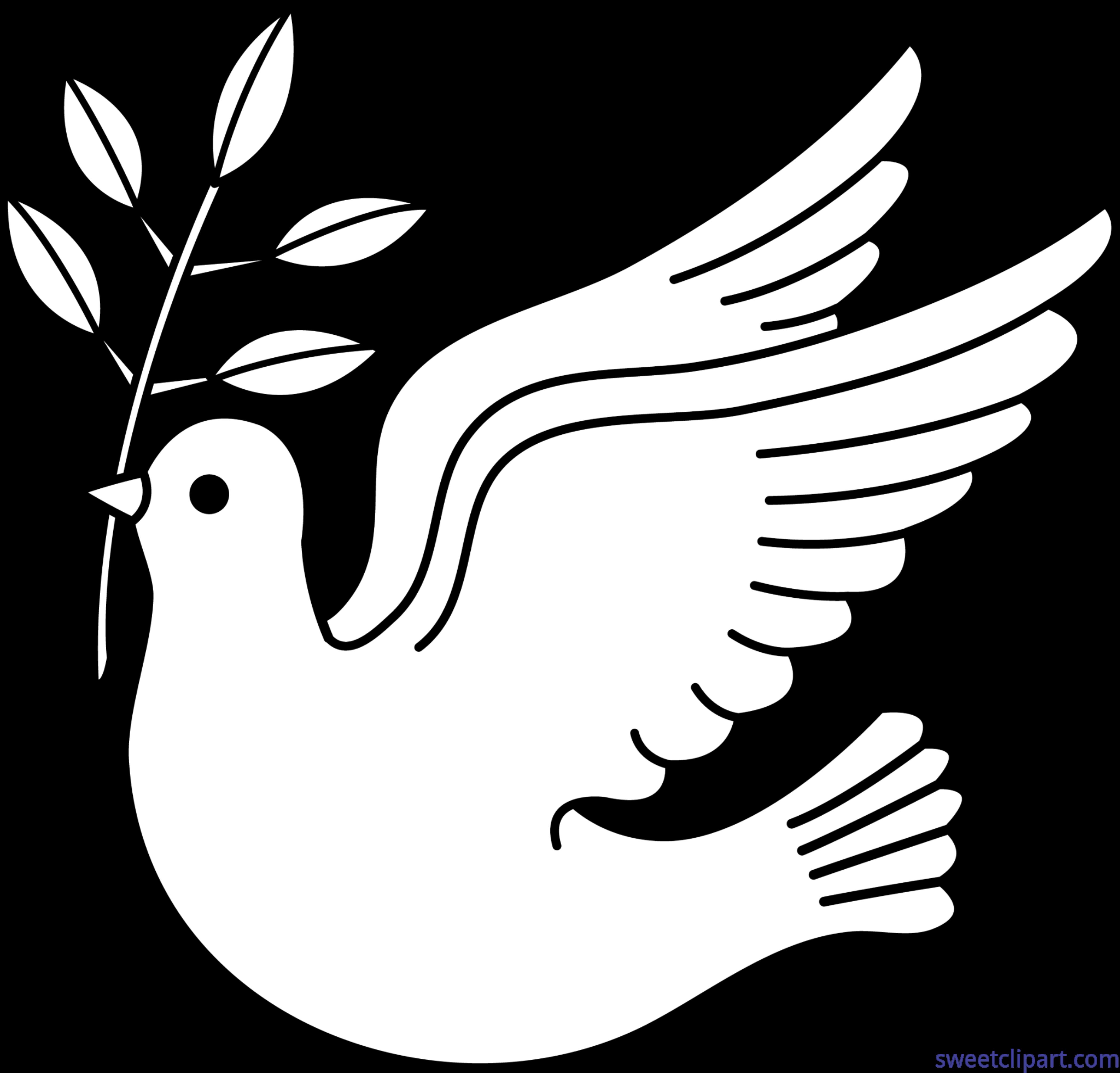 Peace lineart clip art. Feathers clipart dove