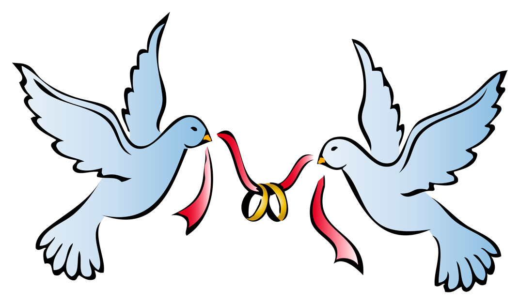 Doves clipart bridal. Pictures of two free