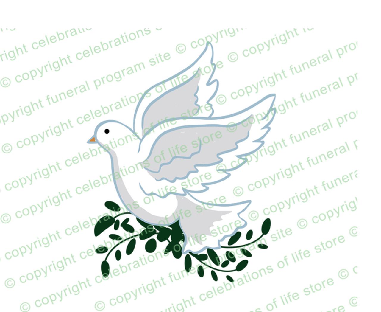 White clip art . Funeral clipart dove