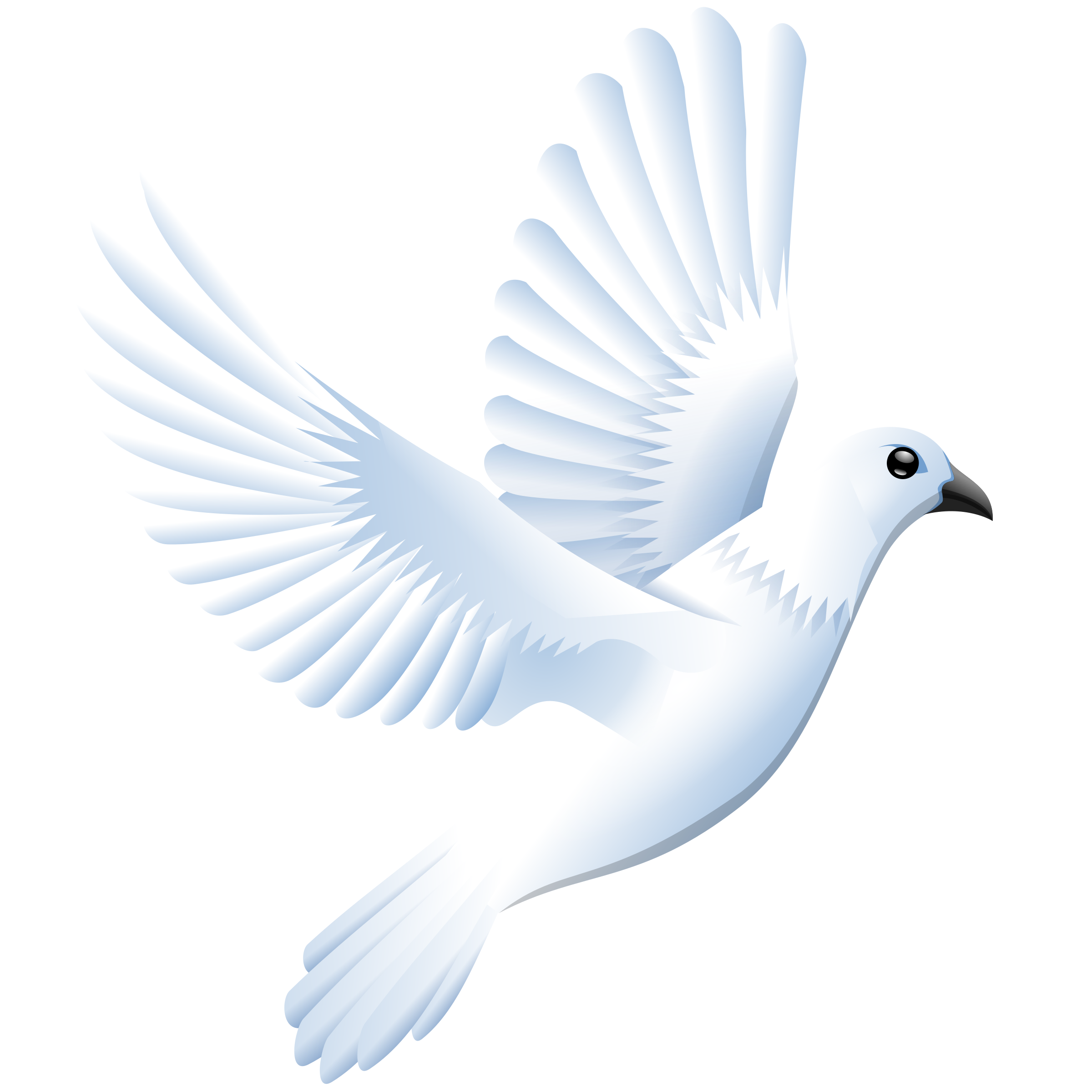 Peace. Doves clipart feather