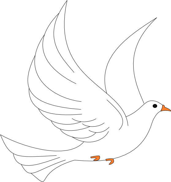 Clip art at clker. Dove clipart open wing