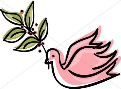 Doves clipart pink. Dove with olive branch