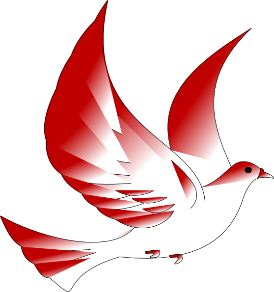 dove clipart red