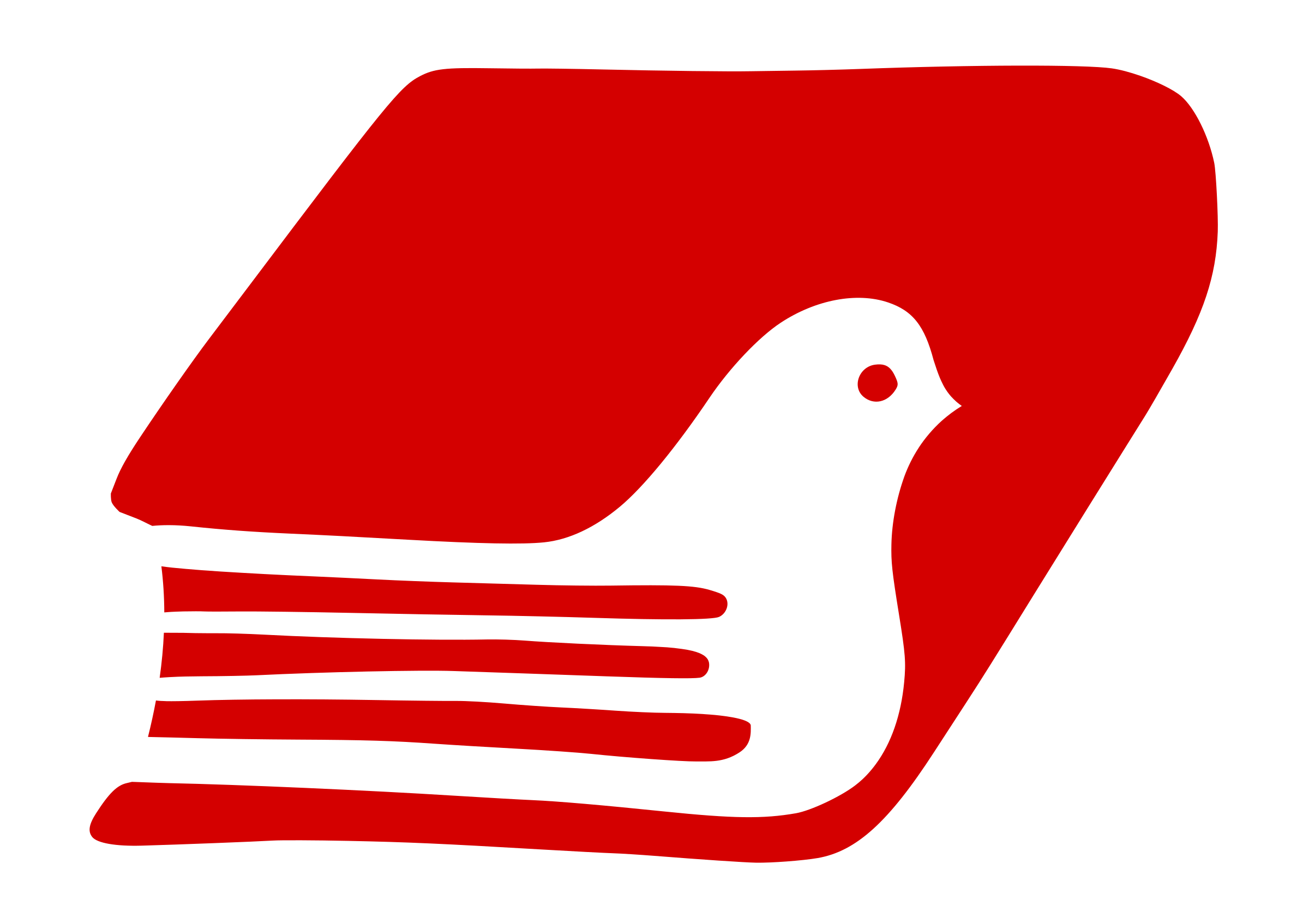 Peace book big image. Dove clipart red