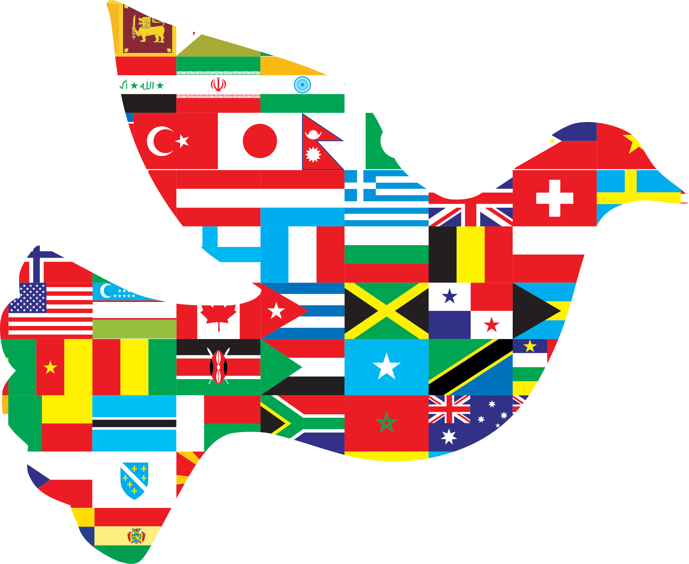 Dove clipart red. International peace big image