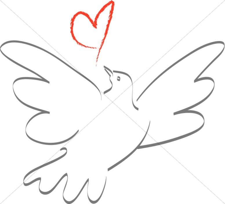 Doves clipart kid. A dove in love