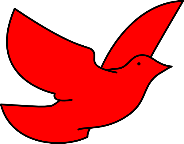 Clip art at clker. Dove clipart red