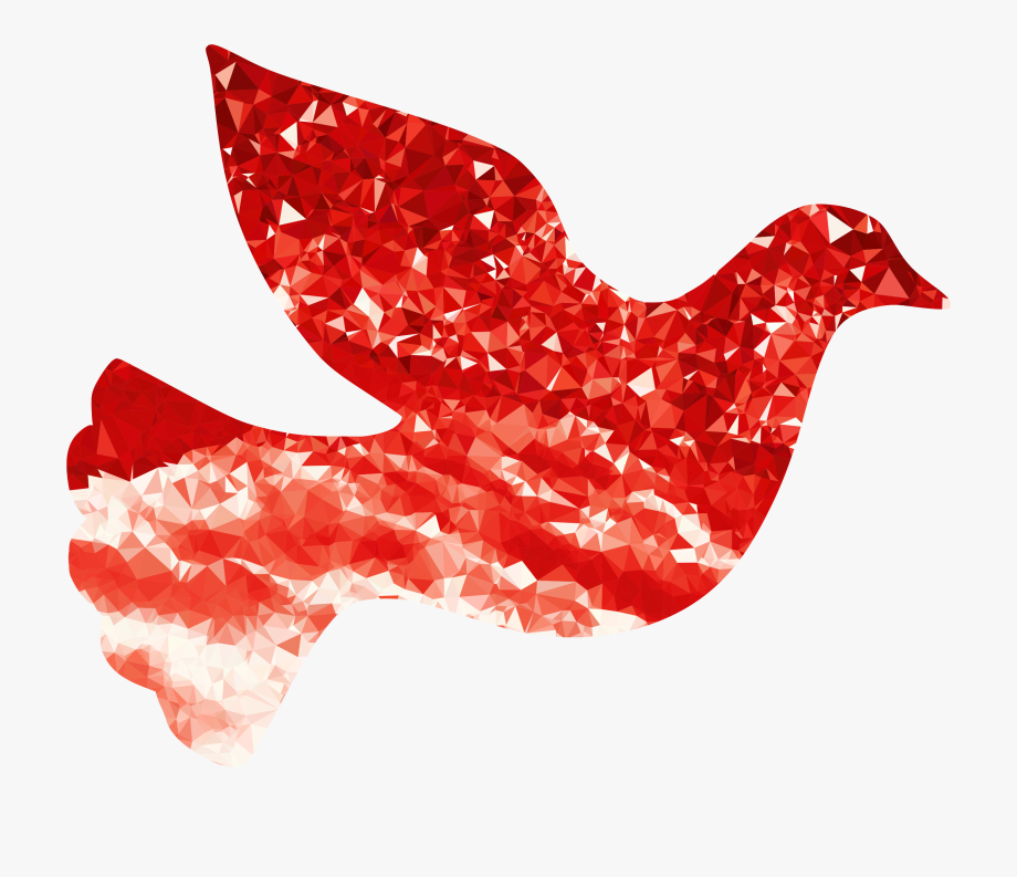 Doves bird peace free. Dove clipart red