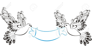 And free images at. Dove clipart ribbon