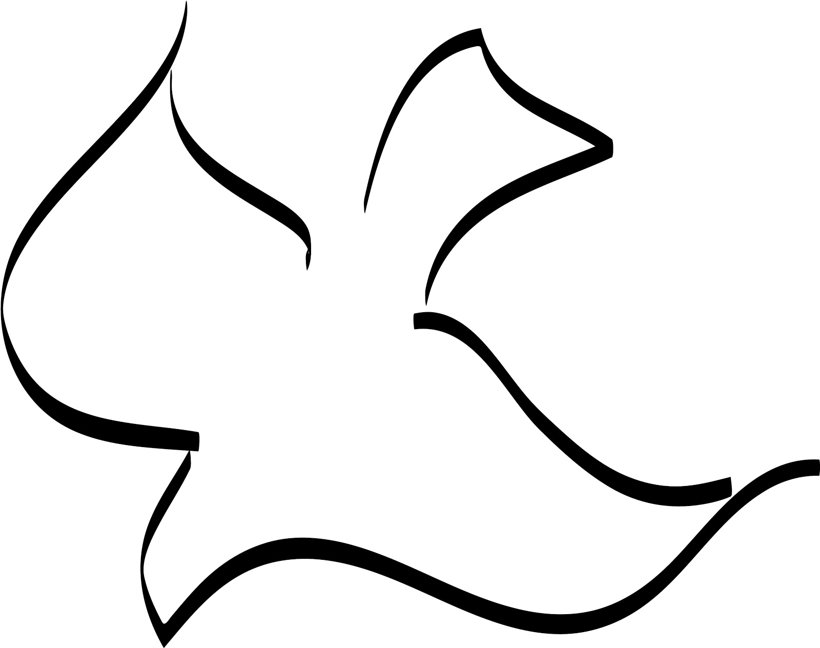 Doves clipart printable. Free outline of a