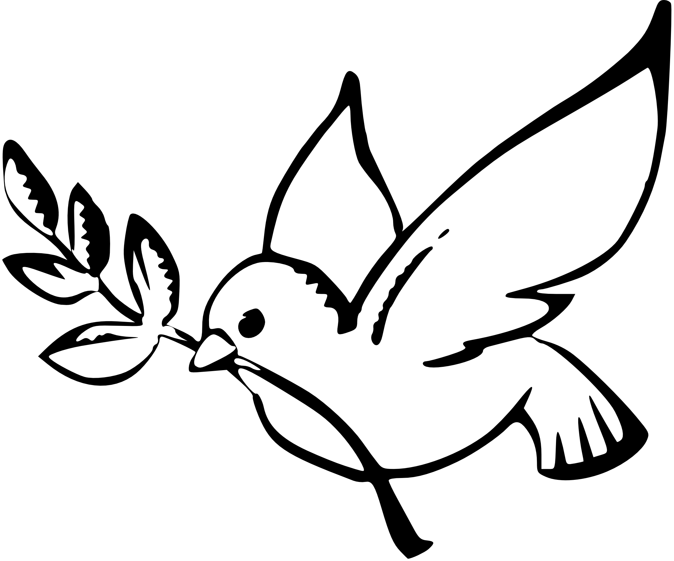Marriage clipart welcome. Dove in flight drawing