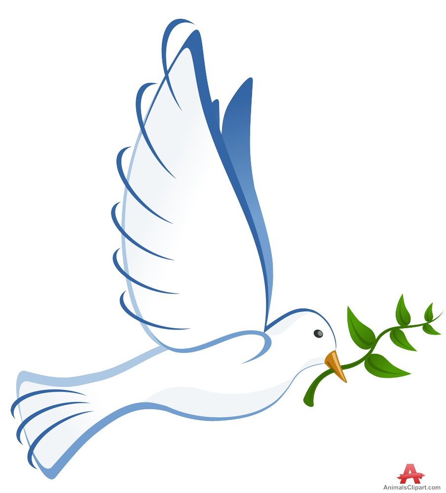 Peace clipart dove. Free with olive branch