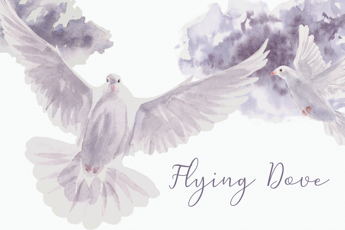 Dove clipart watercolor. Flying clip art