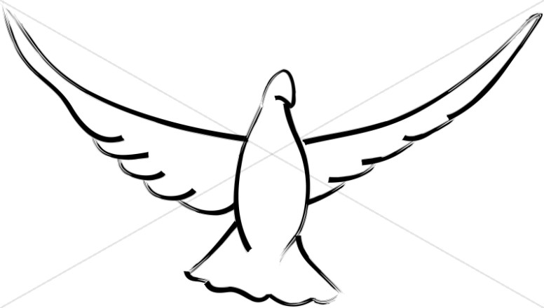 Doves clipart. Open wings dove