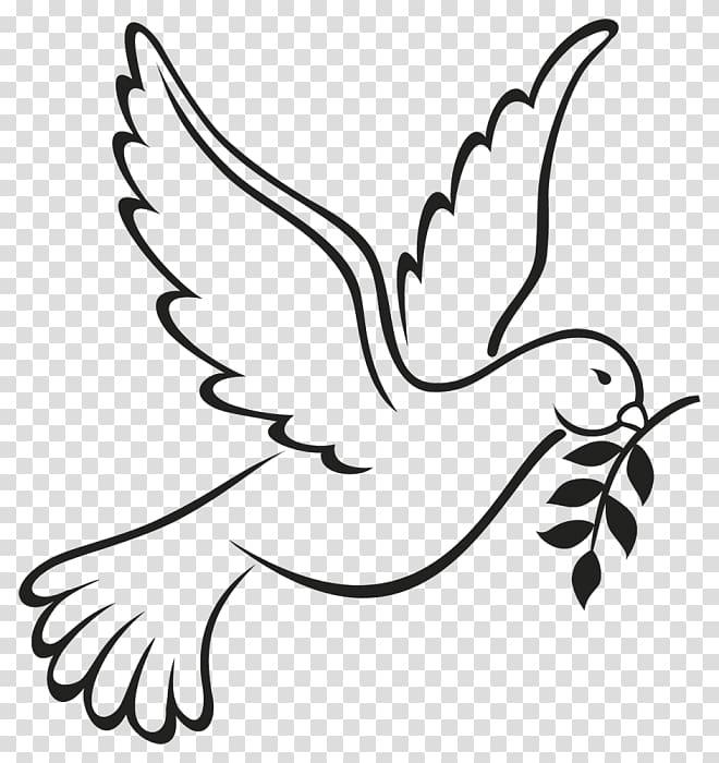 Columbidae as symbols peace. Doves clipart hope