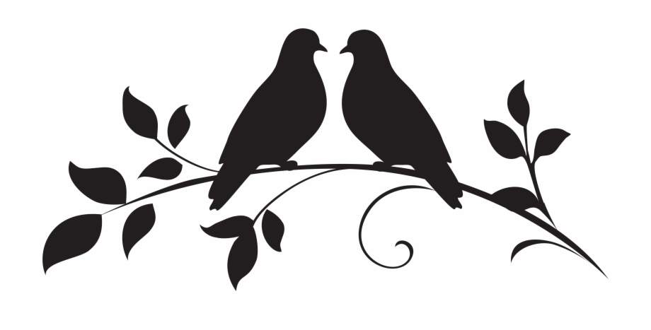 Silhouette birds png free. Doves clipart love dove