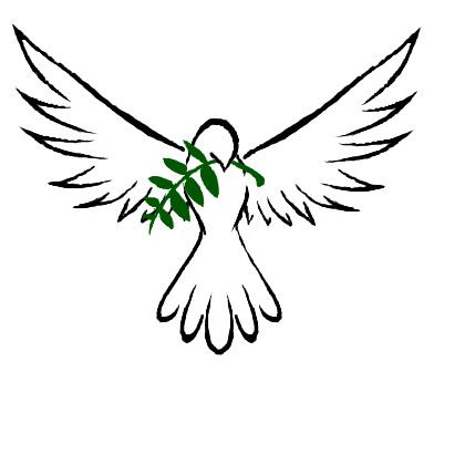 Doves clipart open wing. White dove drawing free