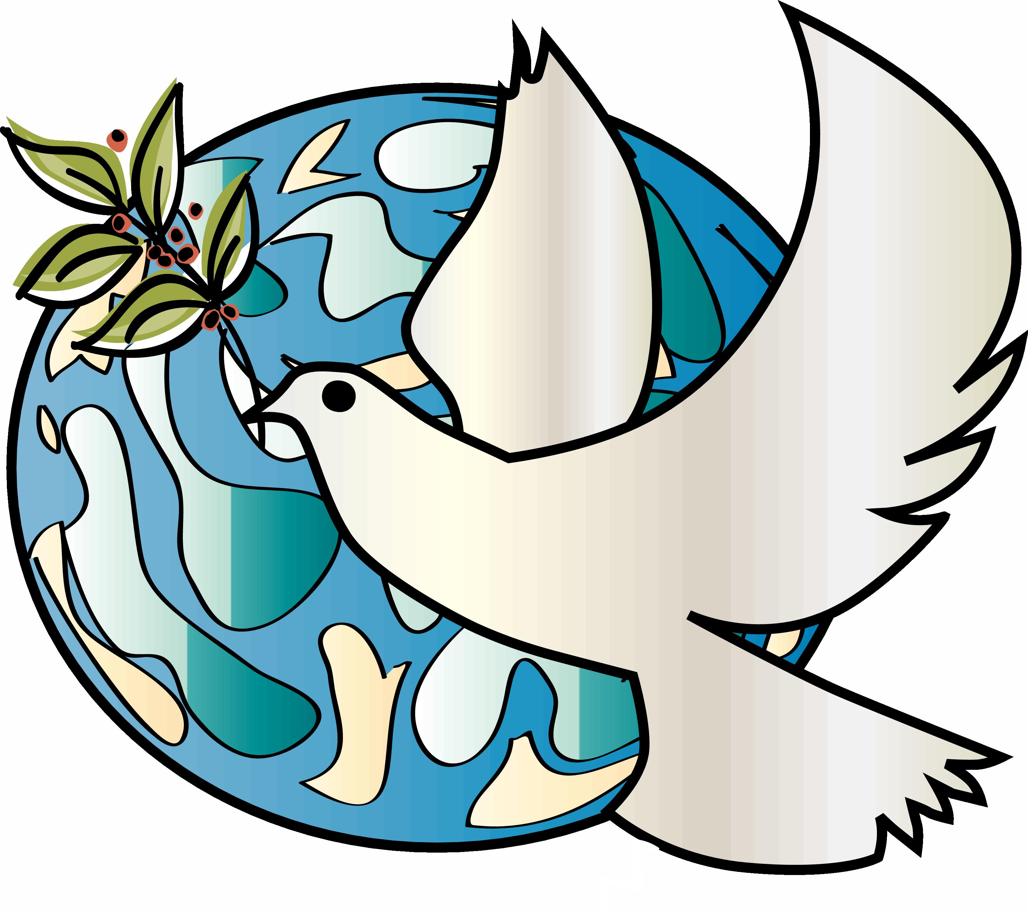 Bulletin free on dumielauxepices. Peace clipart dove