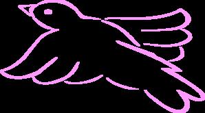 Doves clipart pink. Dove outline clip art