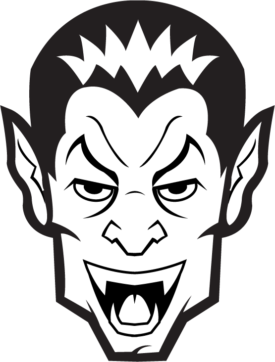 collection of black. Head clipart dracula