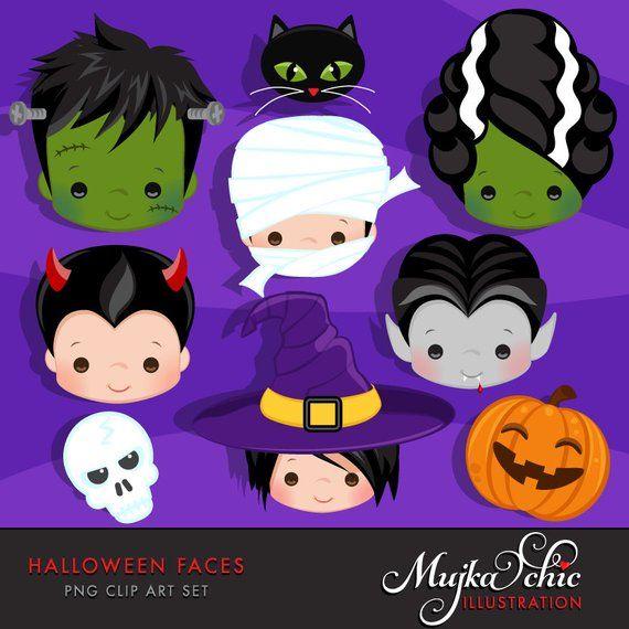 Halloween faces graphics . Frankenstein clipart purple