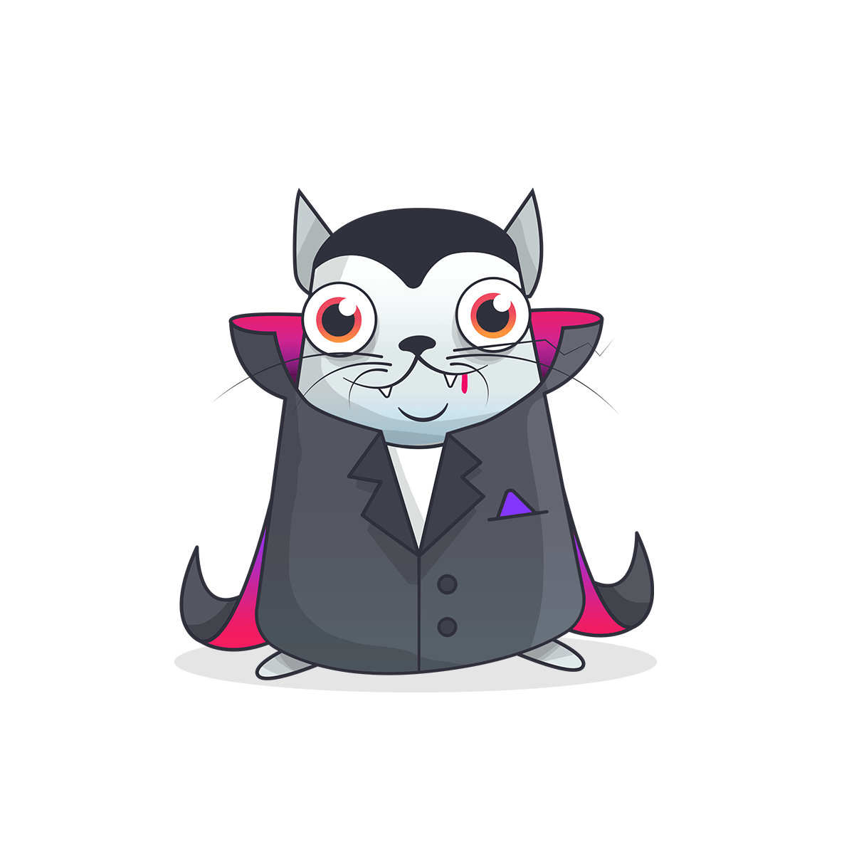Vampire clipart transparent background. Cryptokitty dracula png stickpng