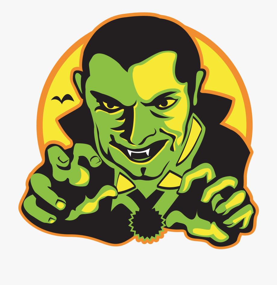 Vampire clipart green. Dracula tooth halloween vintage