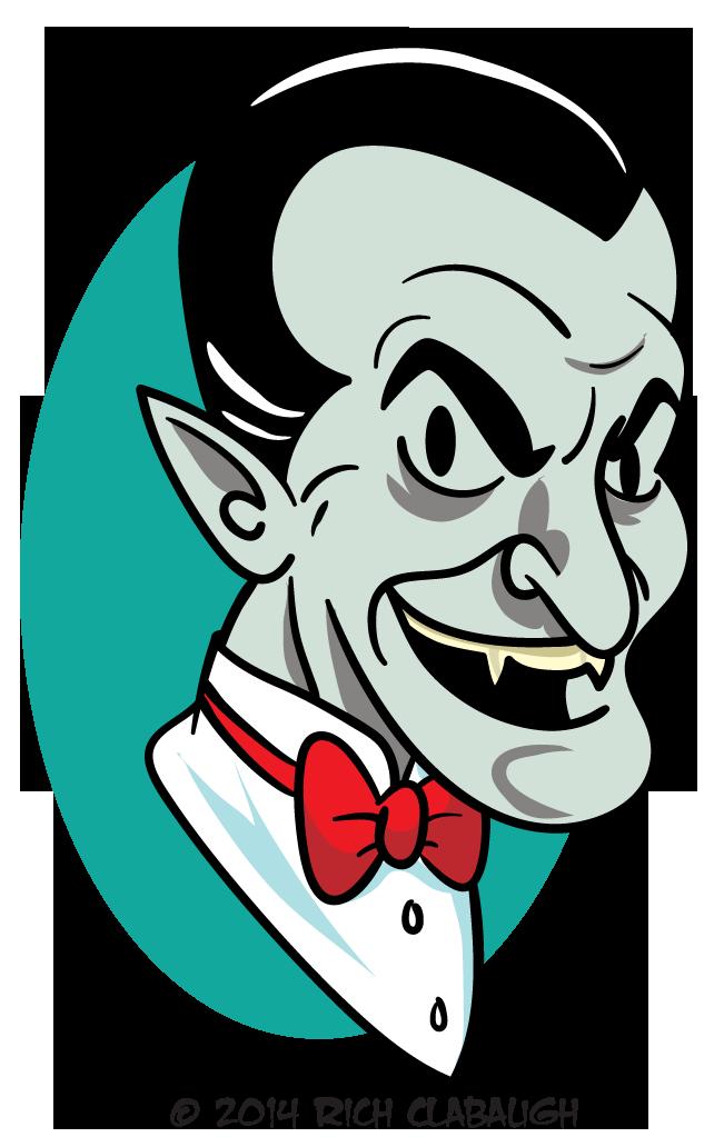 Halloween monster the graveyard. Vampire clipart vampire face