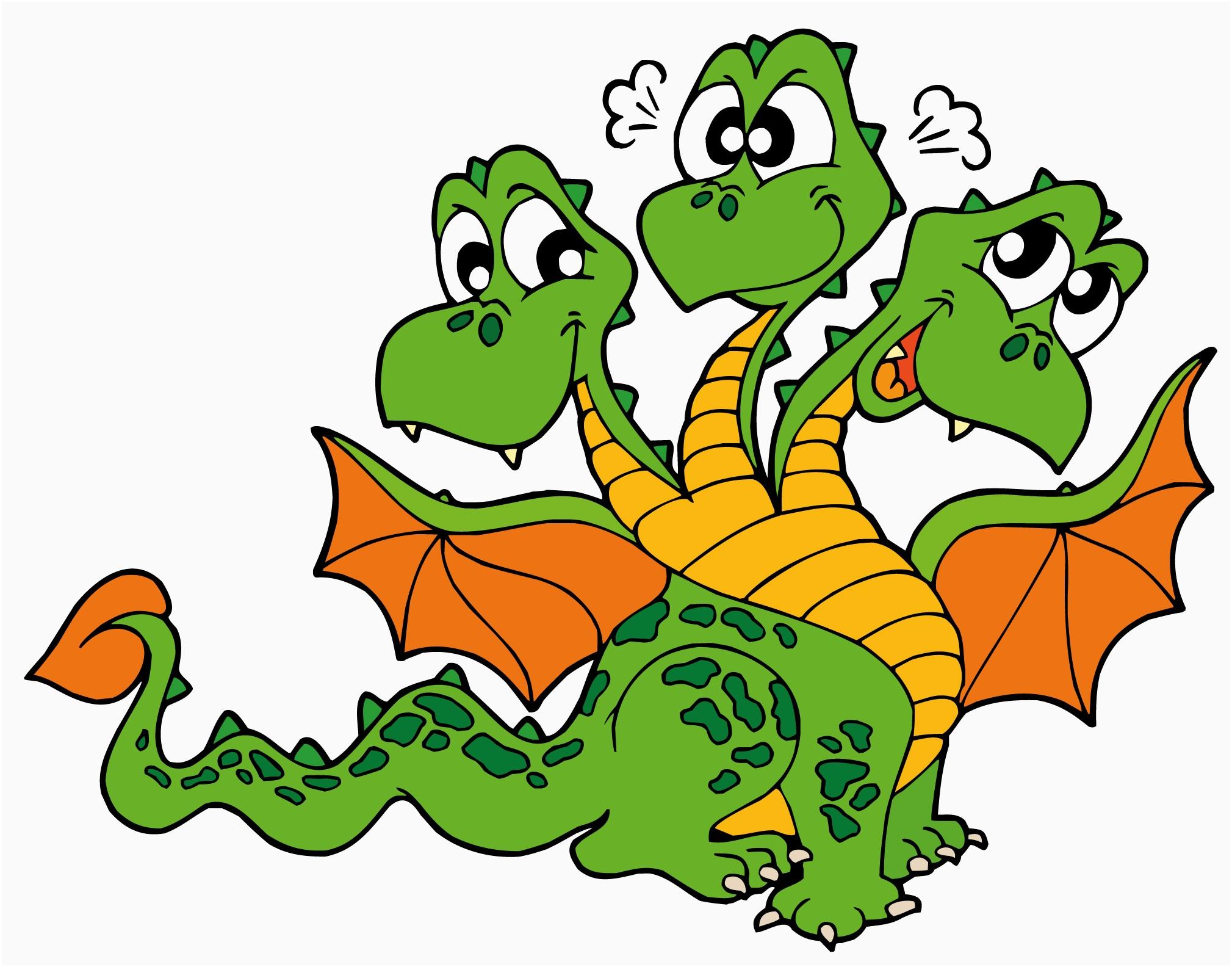Free lovely cute cartoon. Dragon clipart