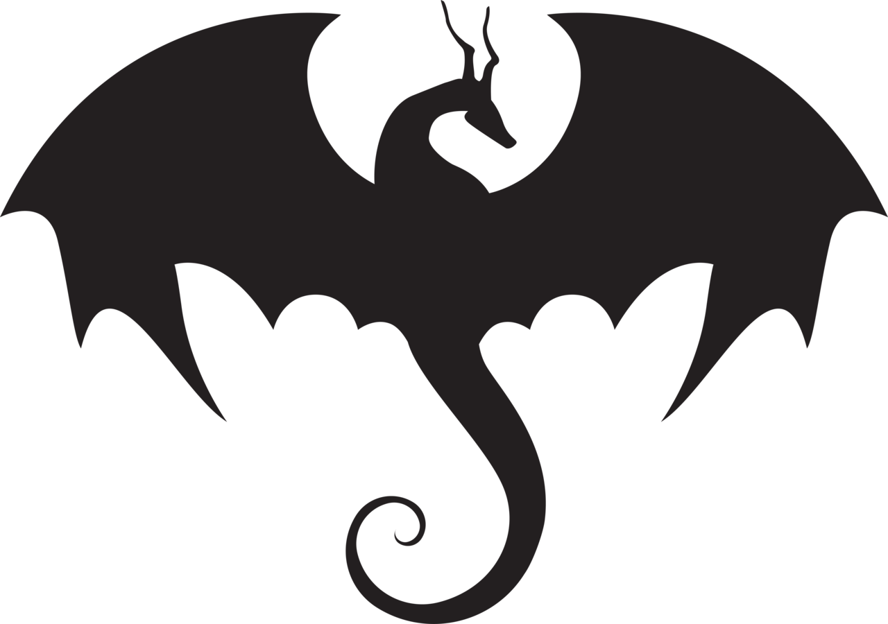 Dragon at getdrawings com. Clipart fire silhouette