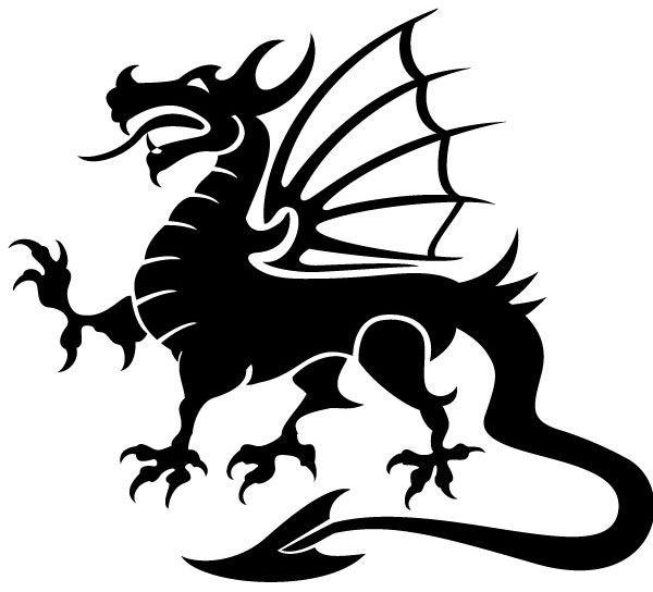 Vector image pinterest images. Dragon clipart