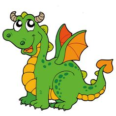 Cute dragons cartoon clip. Clipart dragon