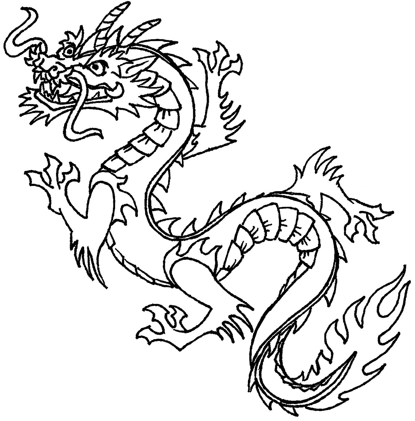 Chinese free download best. Dragon clipart classic