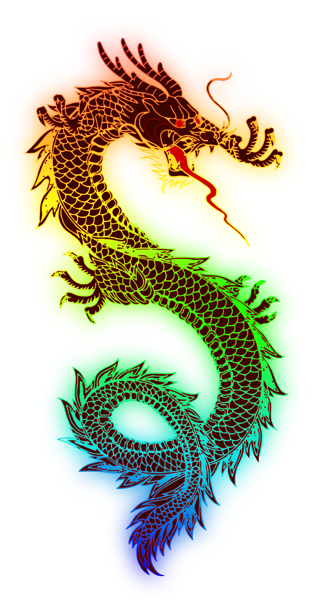Chinese new year. Dragon clipart color
