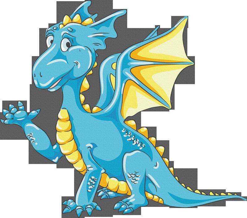 Dragon clipart fairy tale dragon.  f e b