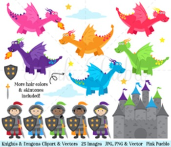 Knights and dragons knight. Dragon clipart fairy tale dragon