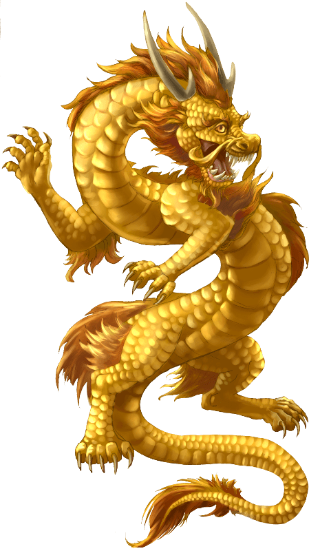 Chinese gold pegasi princesses. Dragon clipart fierce dragon