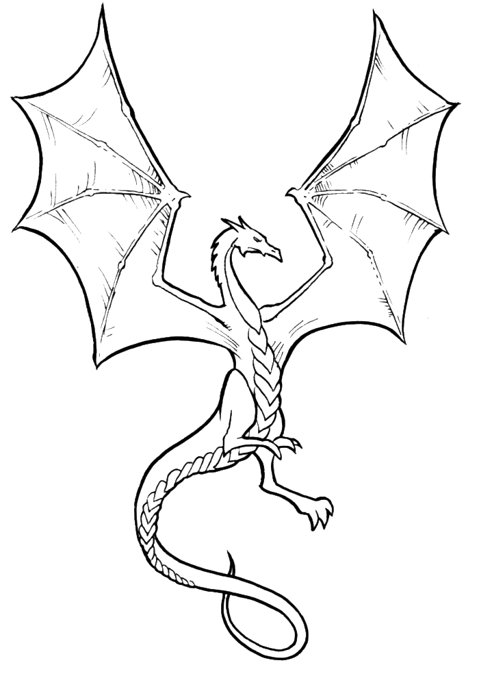 Coloring pages to print. Dragon clipart fierce dragon