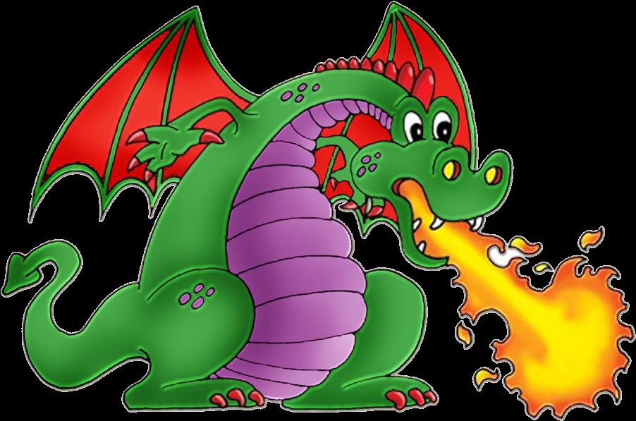 Dragon clipart fire breathing dragon. Cartoon art dinosaur spitfire