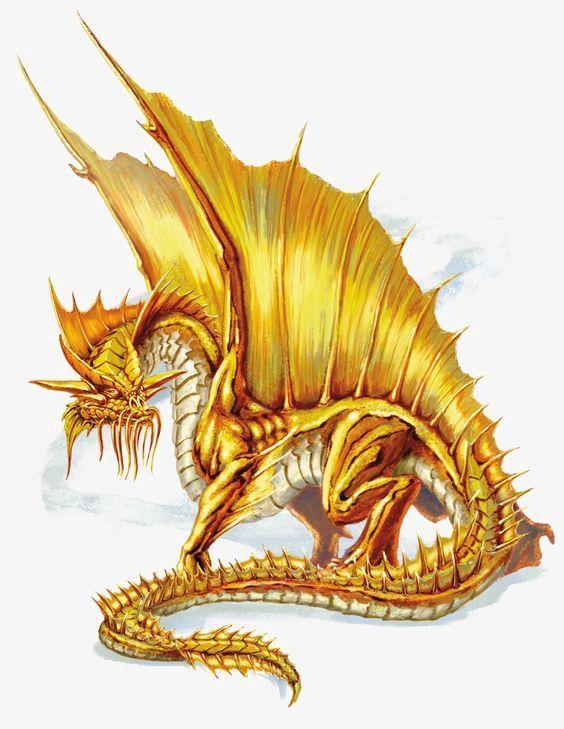 Dragon clipart golden dragon. Ing in fantasy
