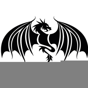 Black and white chinese. Dragon clipart royalty free