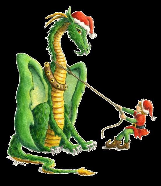 Dragon clipart smaug. Art christmas holiday heidi