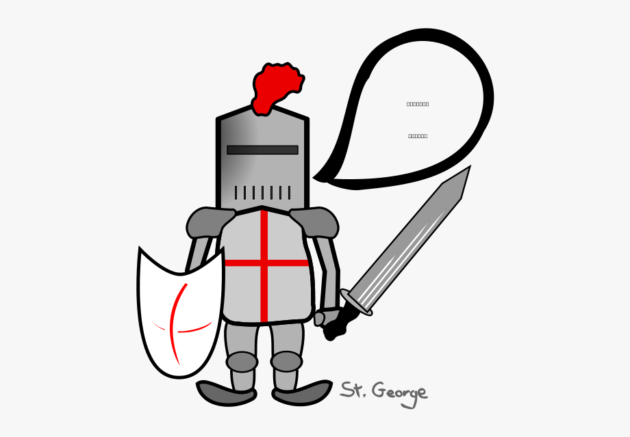 Modern art slaying the. Dragon clipart st georges day