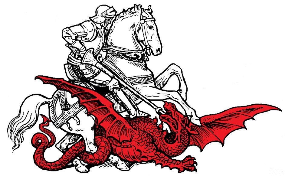 Dragon clipart st georges day. The happy days
